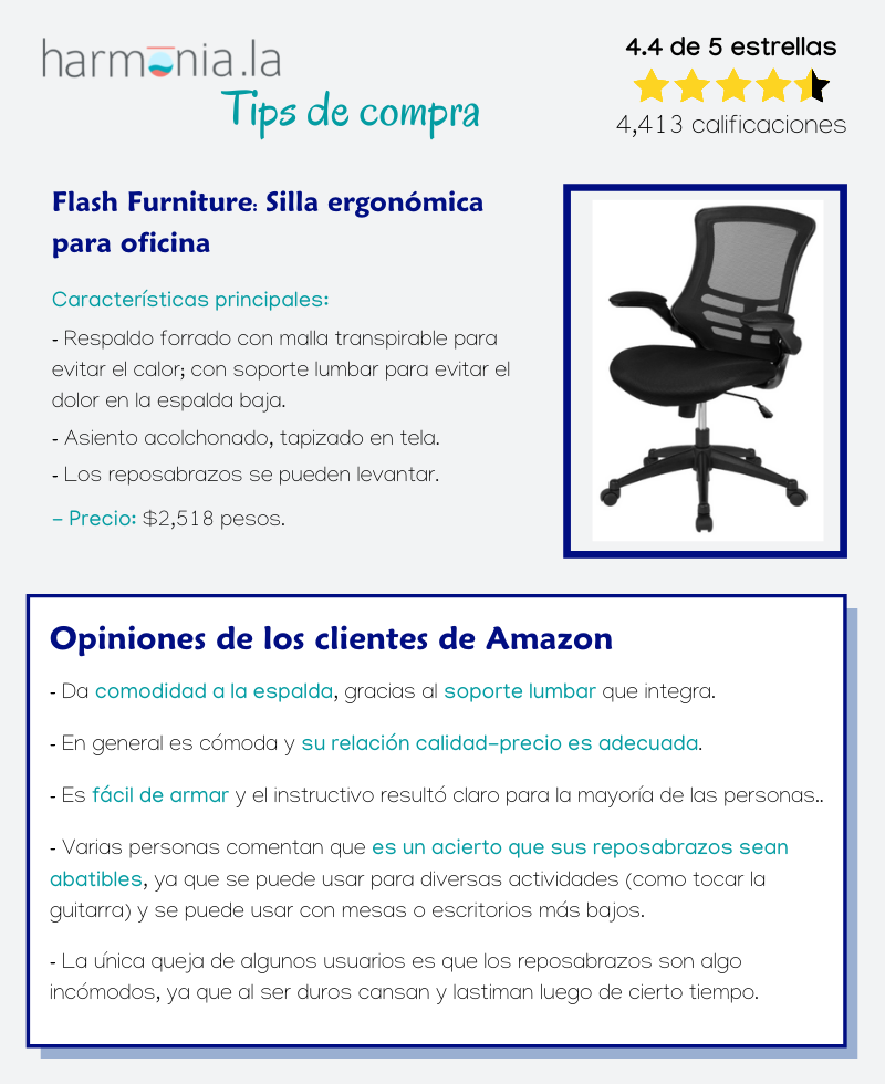 Flash Furniture: Silla ergonómica para oficina